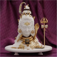 Gold Plated Resin Marble Dust Shiva Statue