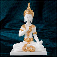 Gold Plated Resin Buddha Statue