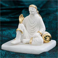 Home Decor Gold Plated Resin Sai Baba Statue