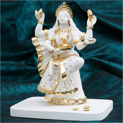 Gold Plated Resin Saraswati Statue