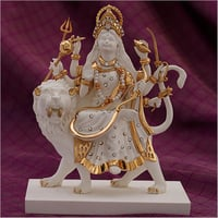 Gold Plated Resin Durga Statue