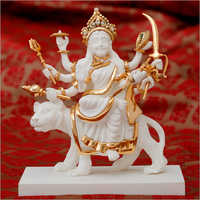 Decorative Gold Plated Resin Durga Statue