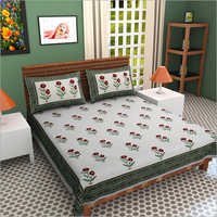 Queen Size Cotton Double Bed Sheet