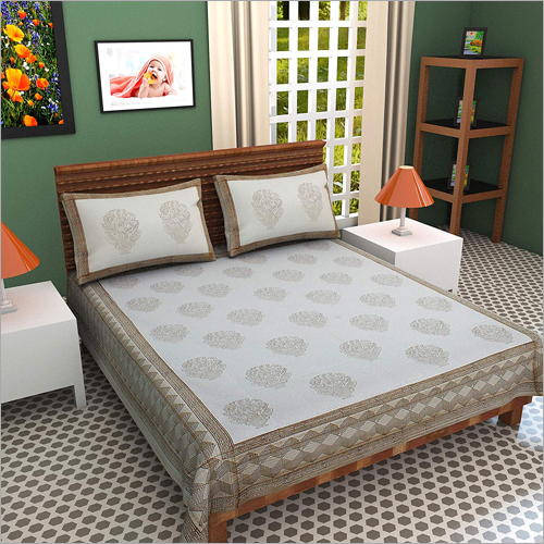 Hand Block Printed Double Bed Sheet
