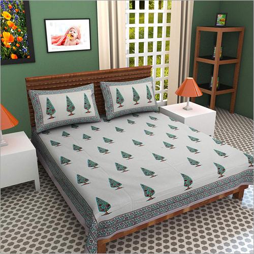 Hand Block Designer Print Bed Sheet