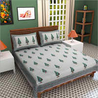 Hand Block Designer Print Bed Sheet
