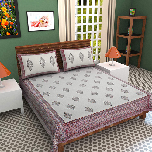 100% Cotton Hand Block Printed Double Bed Sheet