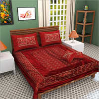 100% Pure Silk Embroidery Double Bed Sheet