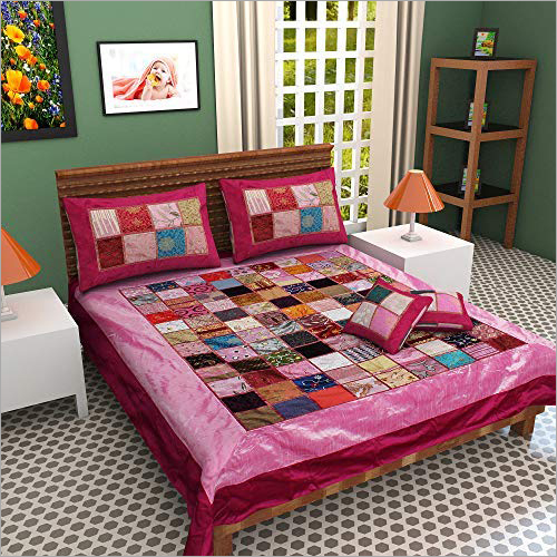 Multicolor Patchwork Double Bed Sheet