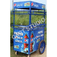 4 Wheeler Soft Drink Cart