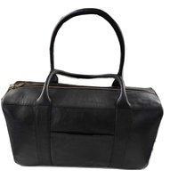 Genuine Leather Duffle/Travel Bag Black