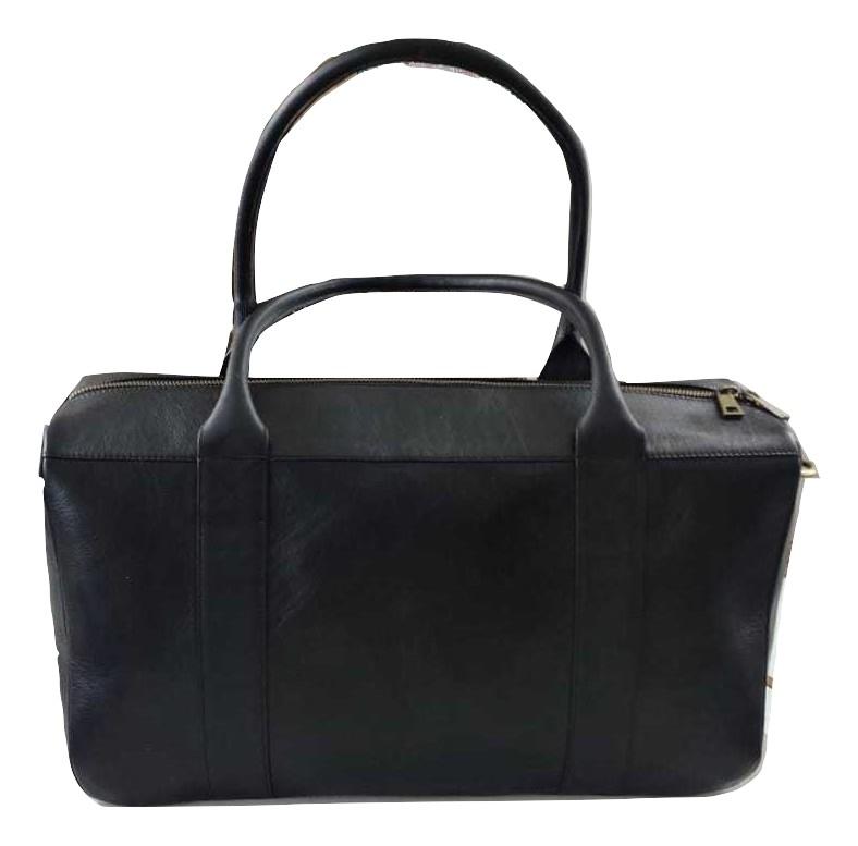 Genuine Leather Duffle/Travel Bag Black
