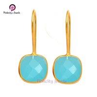 Blue Chalcedony 925 Silver Earring