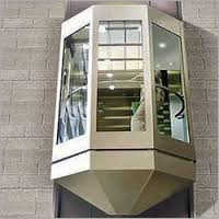 Transparent Glass Elevator