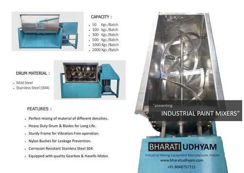 Industrial Paint Spiral type Mixer Machine SS