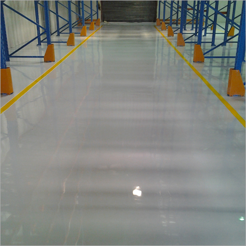 Warehouse Epoxy Flooring Yellow Lining Bosch Services