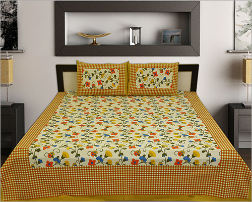 Flower Print Bed Sheet Set