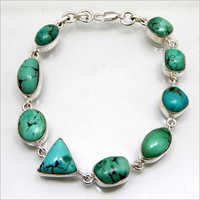Gemstone Sterling Silver Bracelet