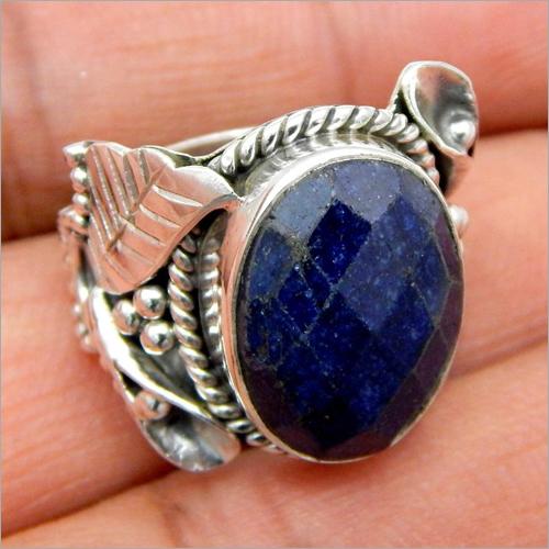 Gemstone Silver Handmade Ring