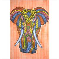 Colorfull Elephant Printed Wall Tapestry