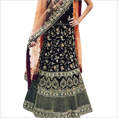 Ladies Embroidered Silk Lehenga