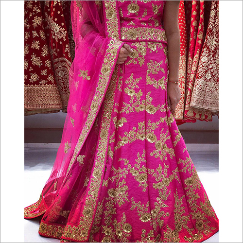 Ladies Embroidered Georgette Lehenga