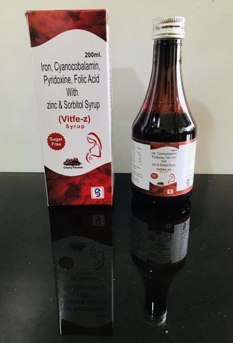 Ferric Ammonium Citrate + Cyanocobalamine + Folic Acid + Zinc + Pyridoxine  + Sorbitol Syrup