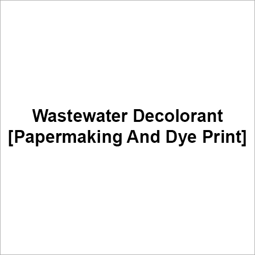Wastewater Decolorant