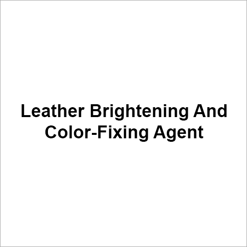 Leather Brightening And Color Fixing Agent