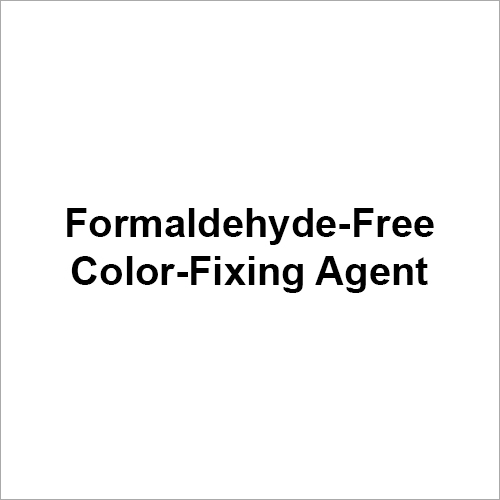 Formaldehyde Free Color Fixing Agent