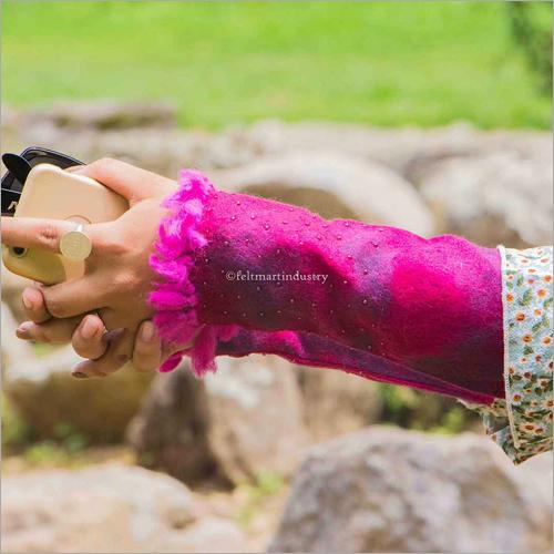 Pink Felt Hand Warmer