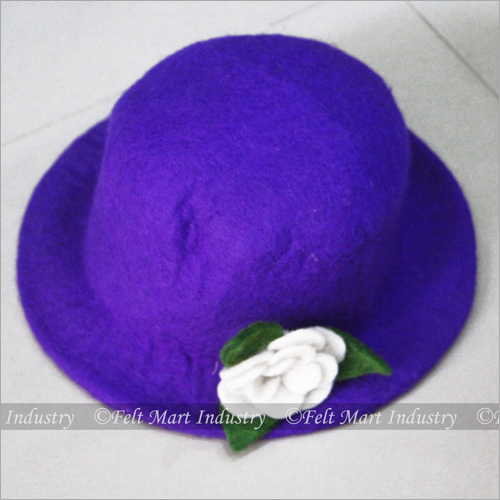 Felt Dark Blue Hat