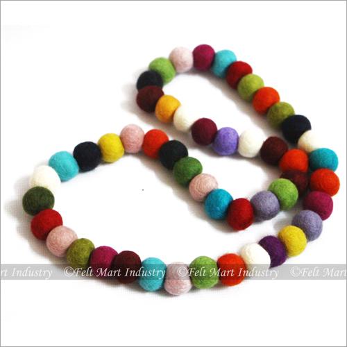 Multicolour Felt Necklace