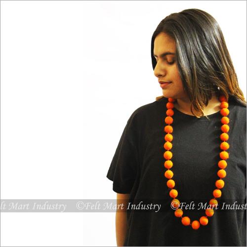 Single Colour Felt Necklace