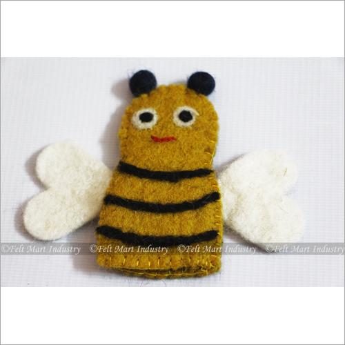 Felt Bee Finger Puppet
