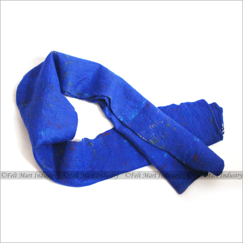 Felt Blue Scarf
