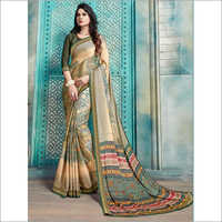 Multicolor Pure Kasturi Crepe Casual Saree