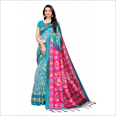 Ladies Silk Two Tone Coloured Saree