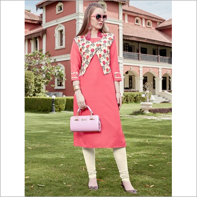 Ladies Pure Rayon Jacket Kurti