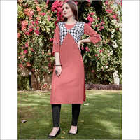 Ladies Plain Jacket Kurti