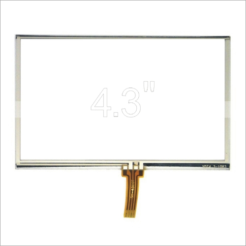 4.3 Inch 4 Wire Resistive Touch Screen