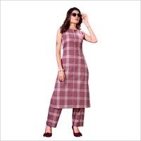 Ladies Check Printed Kurti