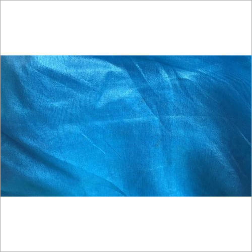 Blue Dupion Silk Fabric