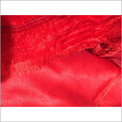 Red Dupion Fabric