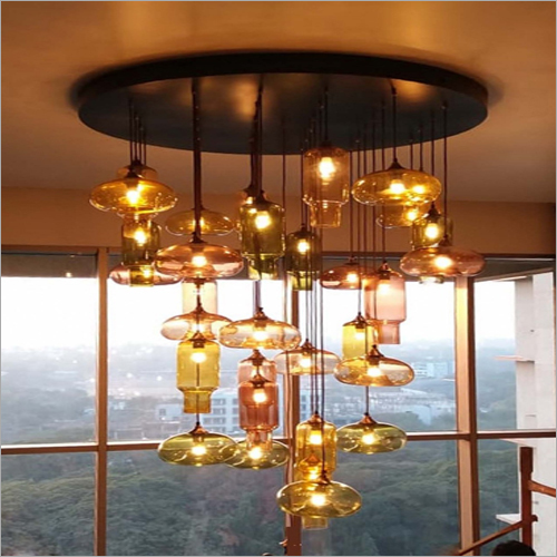 Glass Chandelier Hanging Light