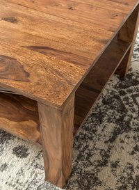 Wooden center coffee table single Drawer
