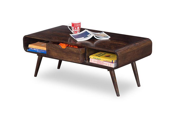 Wooden Center Coffee Table with Storage Victor