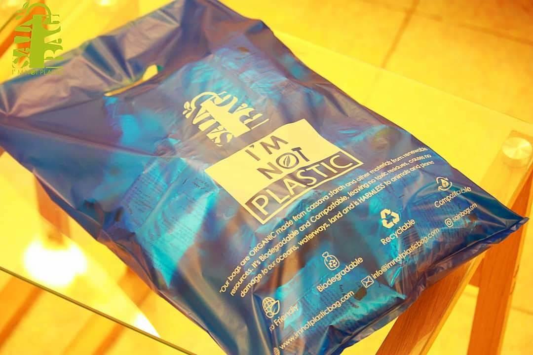 D Cut or Grip Hole Style Biodegradable Bag