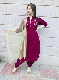 Rayon Embroidery Designer Kurtis in 4 Colors - Winter Wear Fashion 2019 India