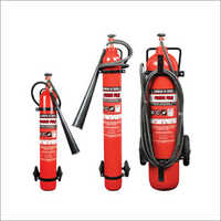 Trolley Mounted Higher Capacity Co2 Type Fire Extinguisher